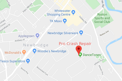 Location of Pro Crash Repair, Naas, County Kildare, Ireland